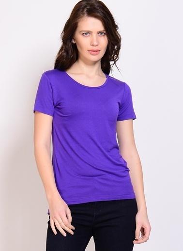 Limon Company LİMON COMPANY kısa kollu Tshirt kadın Mor